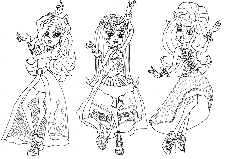 870x616 Monster High Coloring Pages Printable Free Printable Monster High