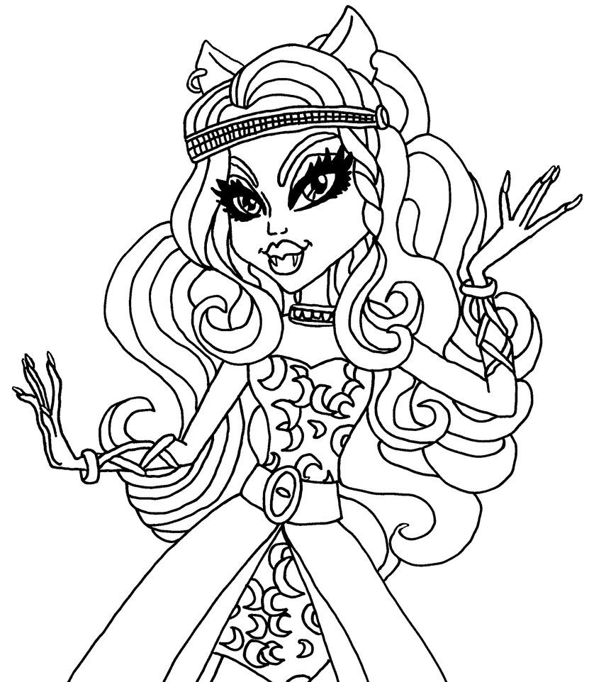 831x962 A Coloring Page Of Clawdeen In Her Wishes Outfit Color