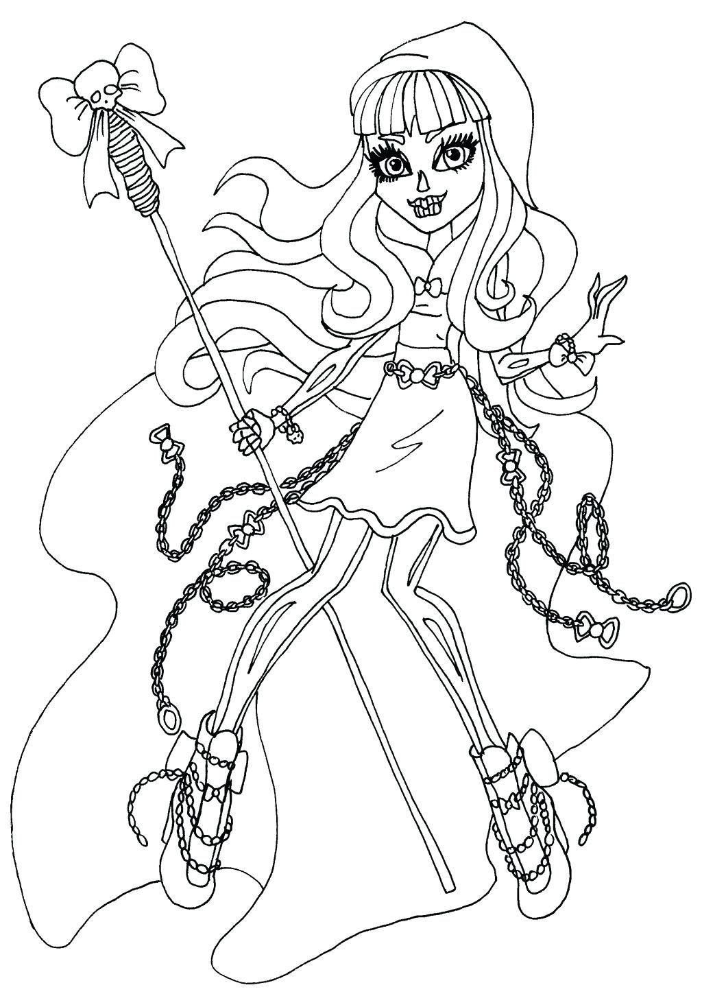1024x1449 Coloring Page Coloring Pages Of Monster High Howleen Wolf