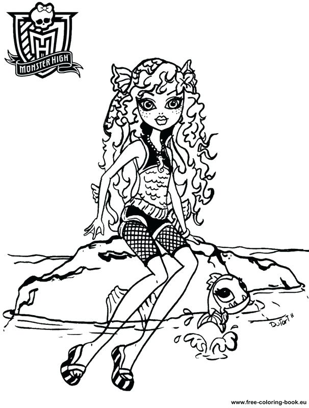 606x800 Coloring Pages Of Monster High Professional