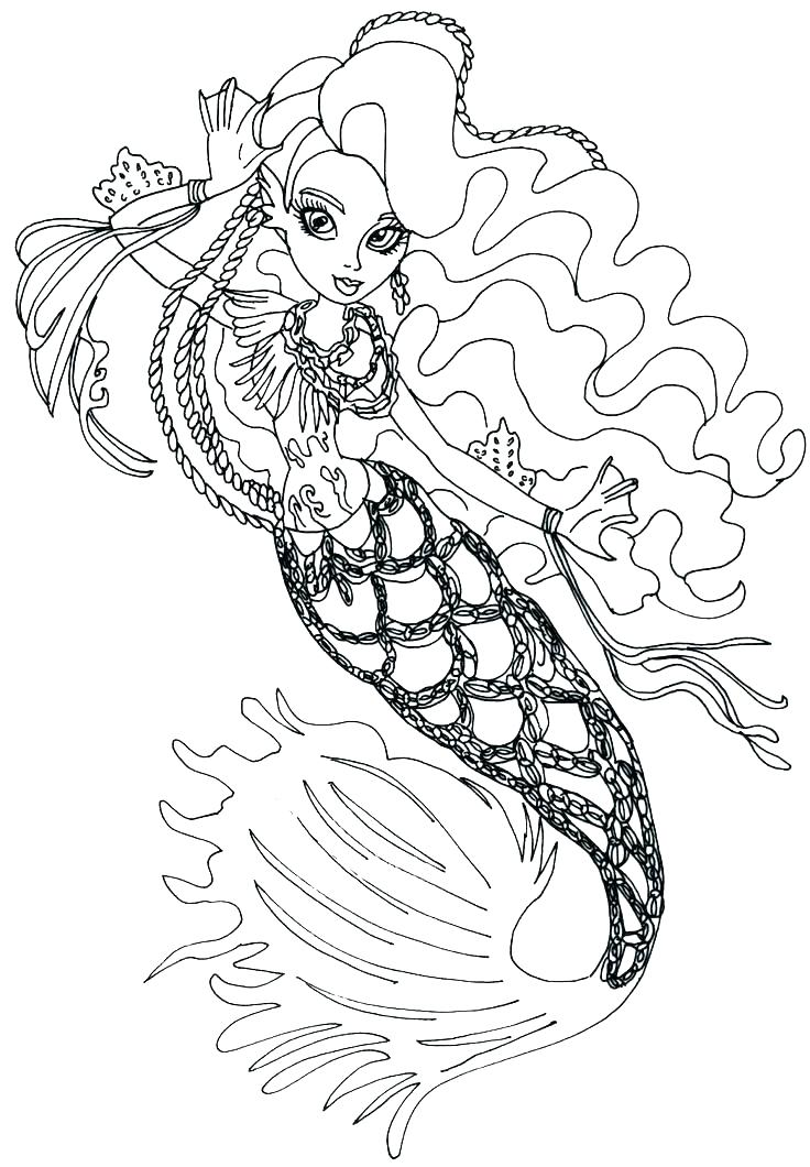 736x1060 Monster High Coloring Pages Wishes