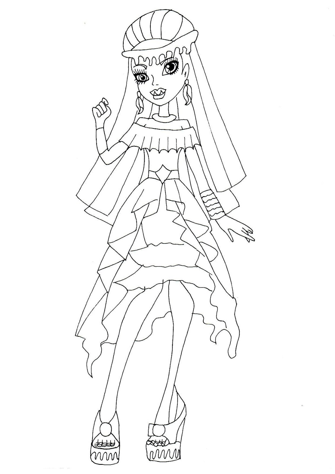 1131x1600 Free Printable Monster High Coloring Pages Abbey Bominable