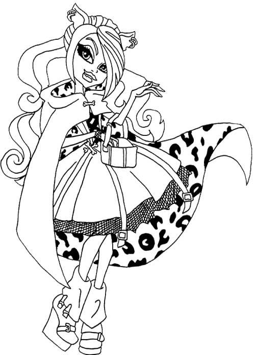 Monster High Clawdeen Wolf Coloring Pages
