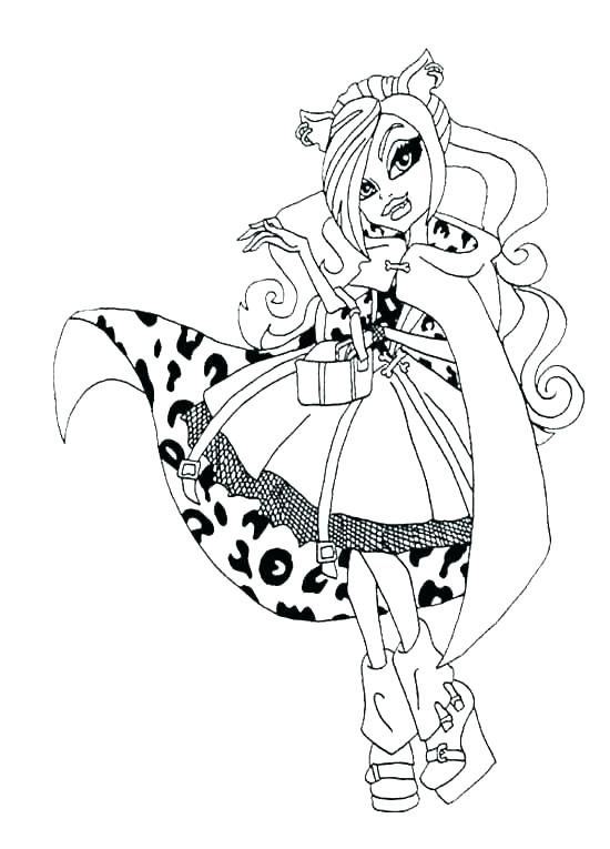 550x765 Clawdeen Wolf Coloring Pages Coloring Pages Monster High Coloring