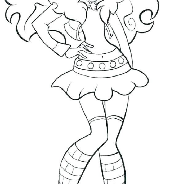 550x600 Clawdeen Wolf Coloring Pages Monster High Wolf Baby Clawdeen Wolf