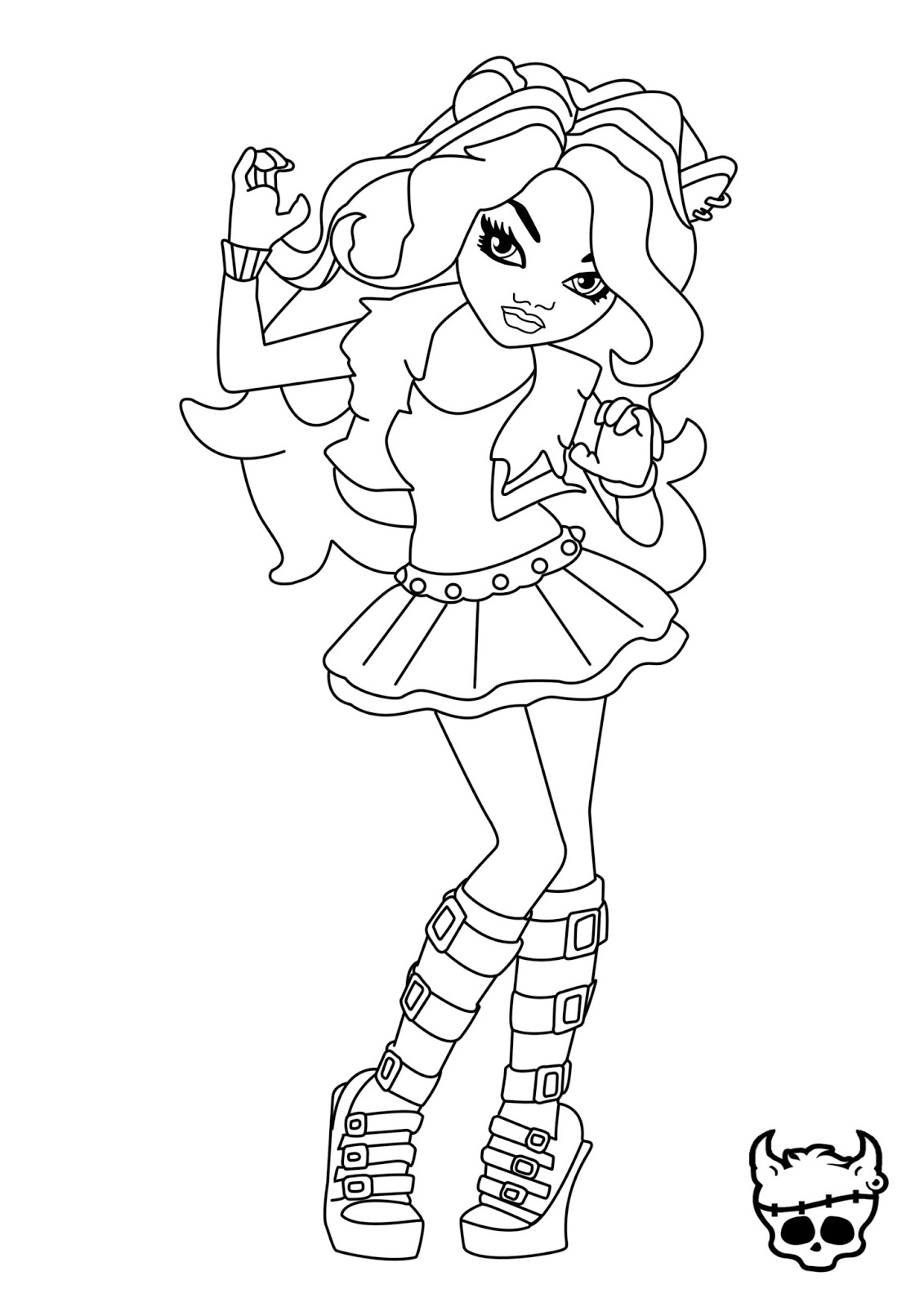 1131x1600 Monster High Clawdeen Wolf Coloring Pages New Coloring Sheets