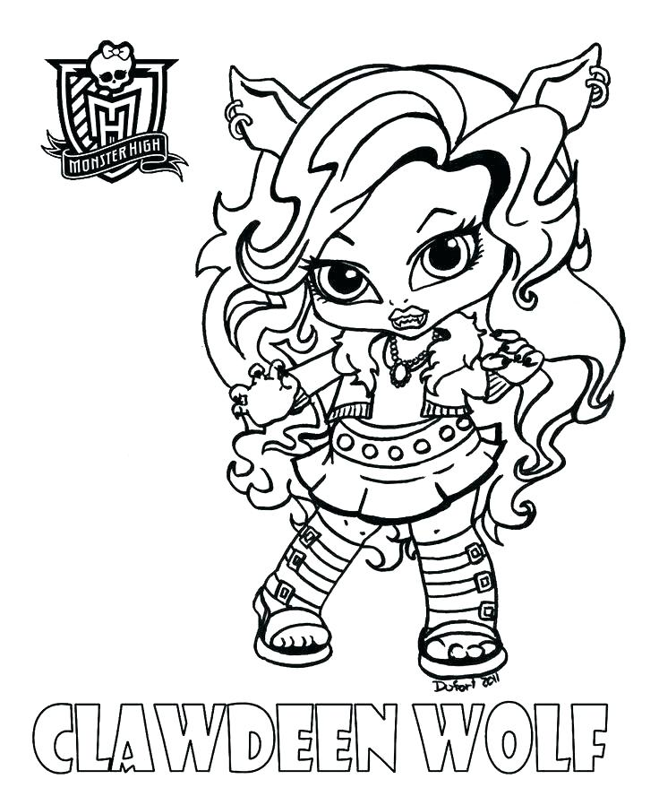 736x898 Monster High Clawdeen Wolf Coloring Pages Professional