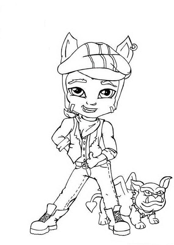 570x800 Clawd Wolf Little Boy Monster High Coloring Page