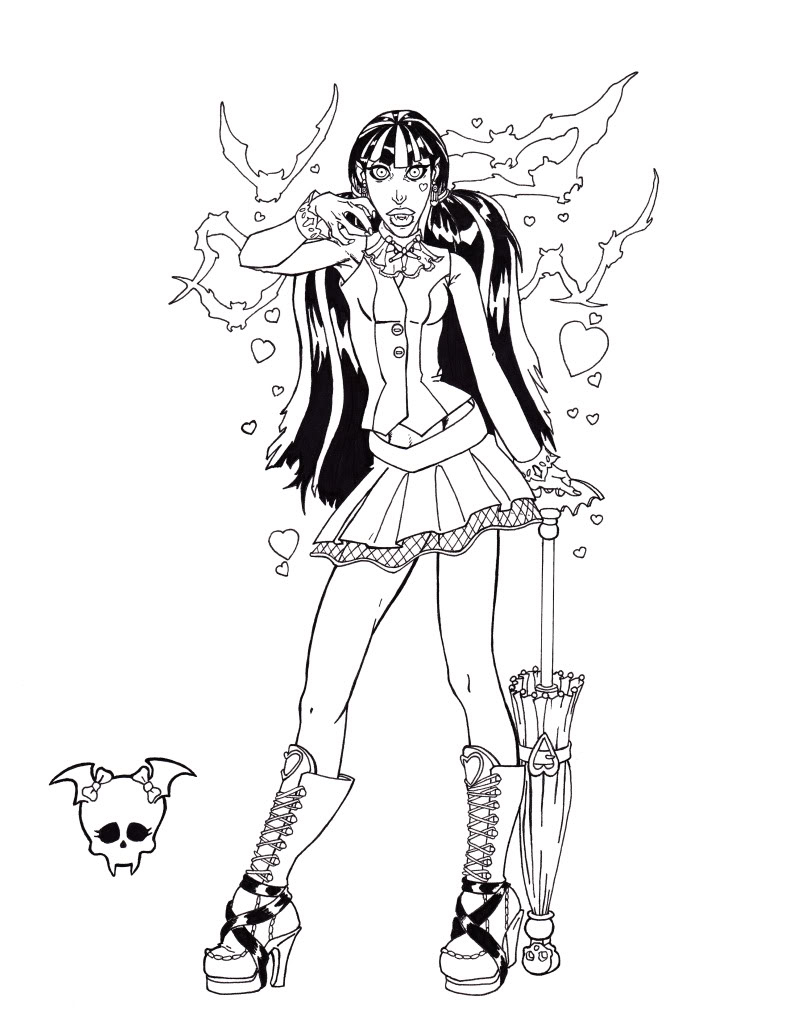 Monster High Coloring Pages All Characters At GetDrawings