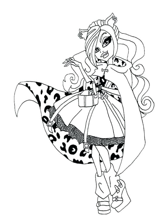 550x765 Monster High Catty Noir Coloring Pages Free Monster High Coloring