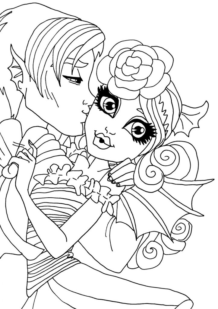 723x1024 Monster High Catty Noir Colouring Pages For Toddler Download