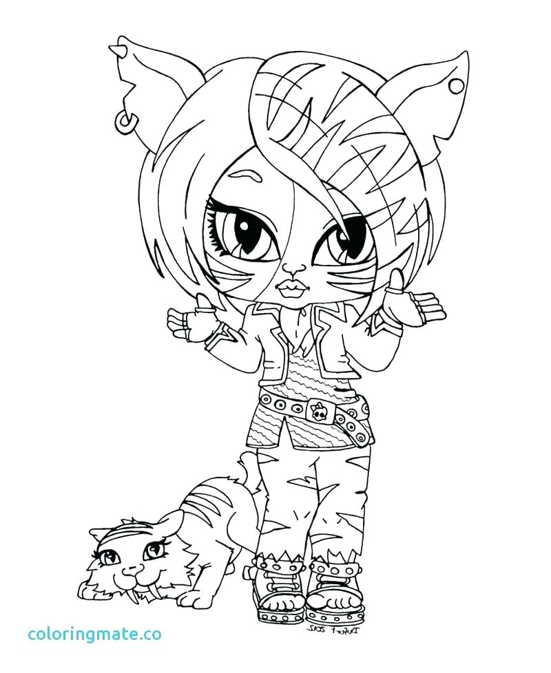 800x978 Monster High Catty Noir Printable Coloring Pages Dolls Beautiful