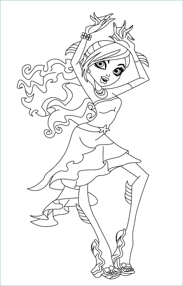 638x995 Monster High Coloring Page Monster High Coloring Pages Wolf Ever