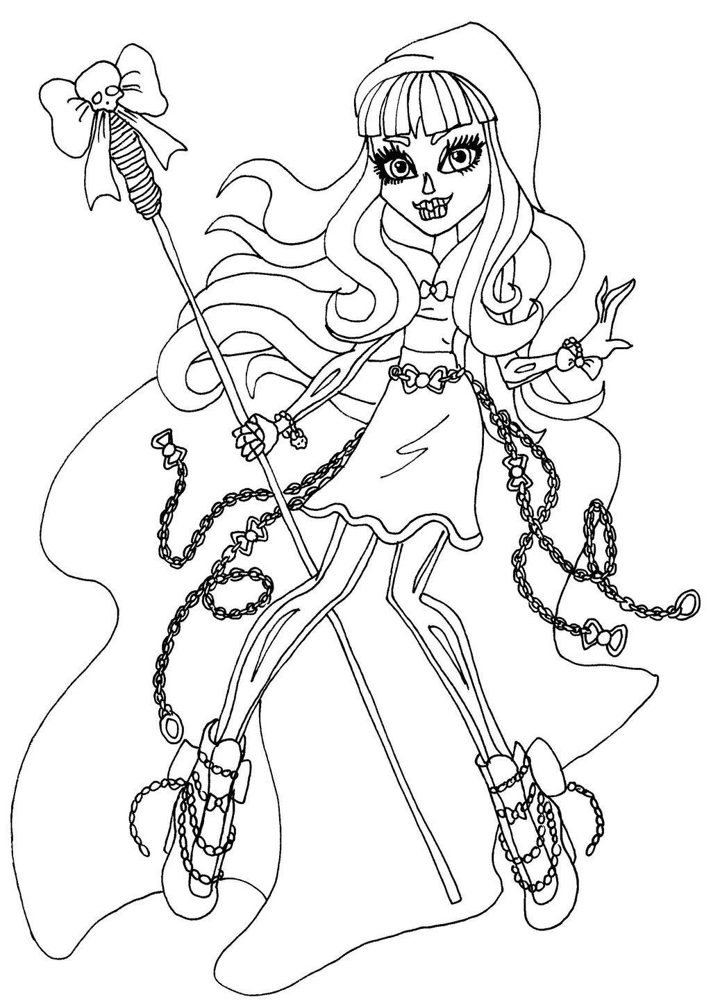 1024x1449 Monster High Coloring Pages Catty Noir