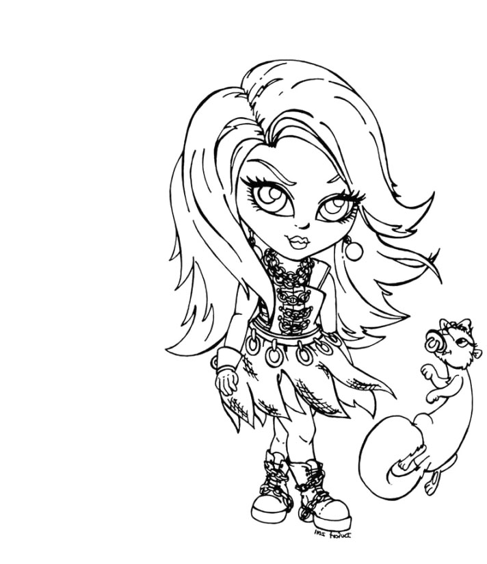 712x824 Baby Monster High Coloring Pages