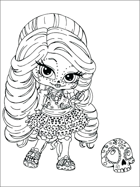 560x750 Printable Monster High Coloring Pages Professional