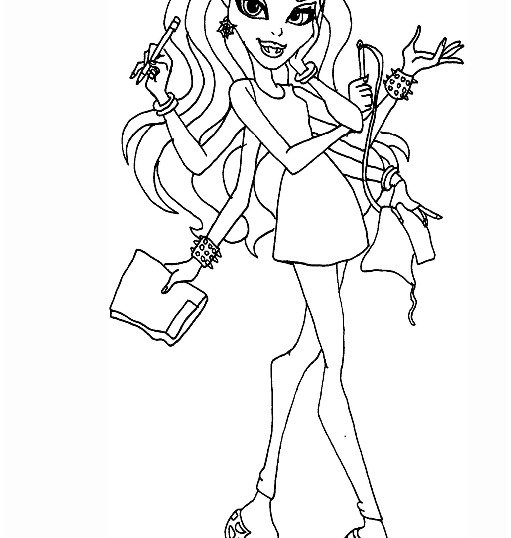1026x1080 Catty Noir Coloring Page Free Printable Monster High And Friends