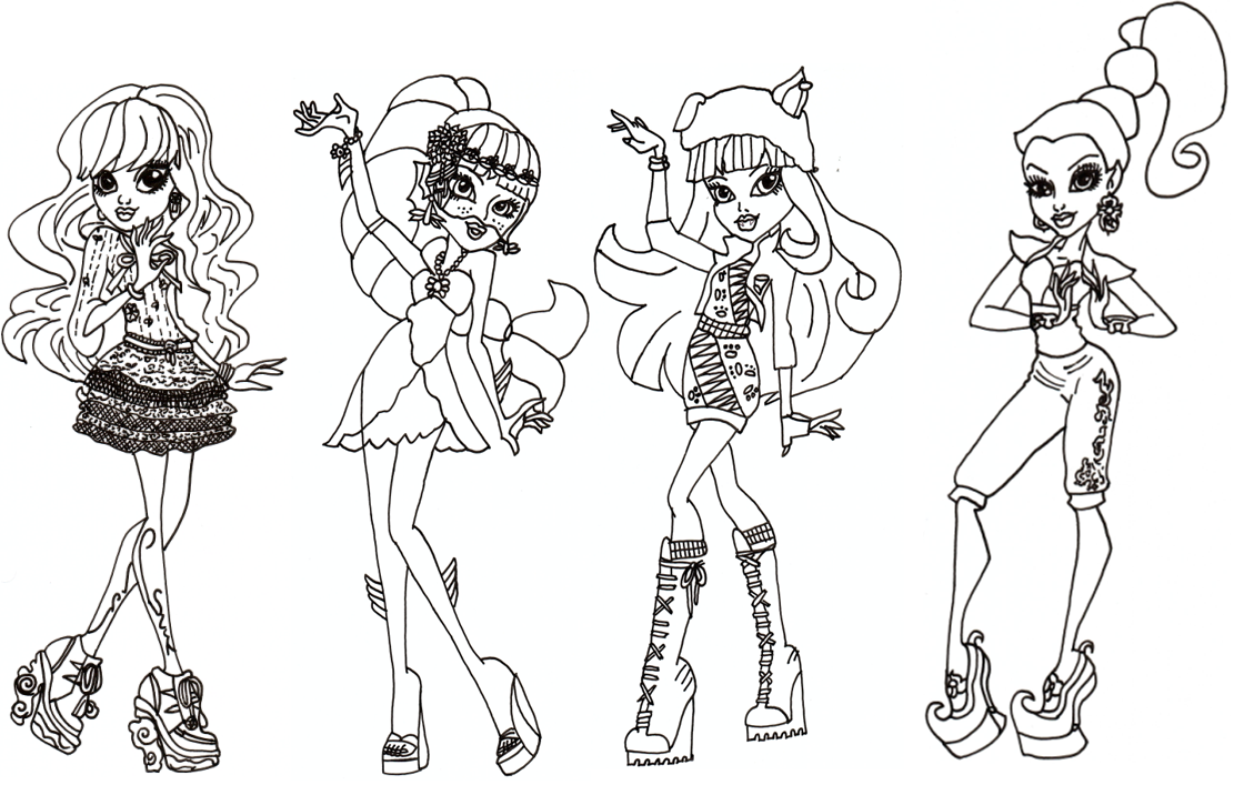Monster High Coloring Pages Catty Noir At Getdrawings Free Download