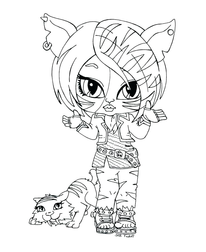 800x978 Monster High Coloring Pages Clawdeen Wolf And Wolf Monster High