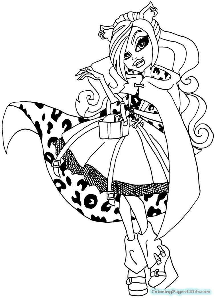 758x1055 Monster High Coloring Pages Clawdeen Wolf Dawn Of The Dance