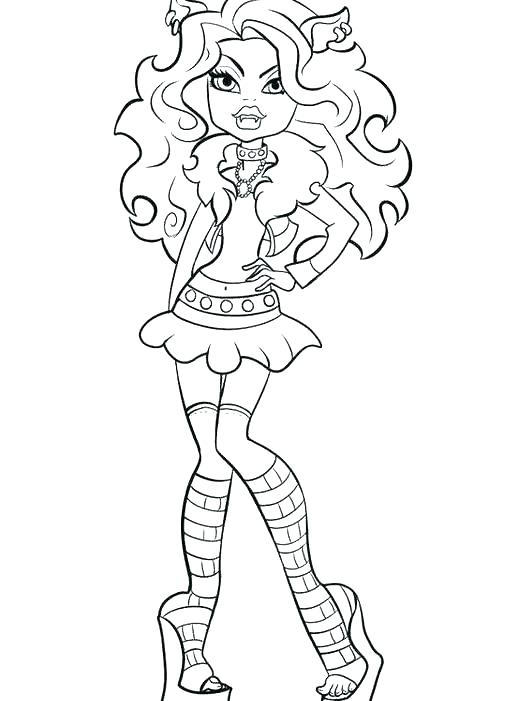 506x701 Monster High Coloring Pages Clawdeen Wolf Scaris Coloring Pages