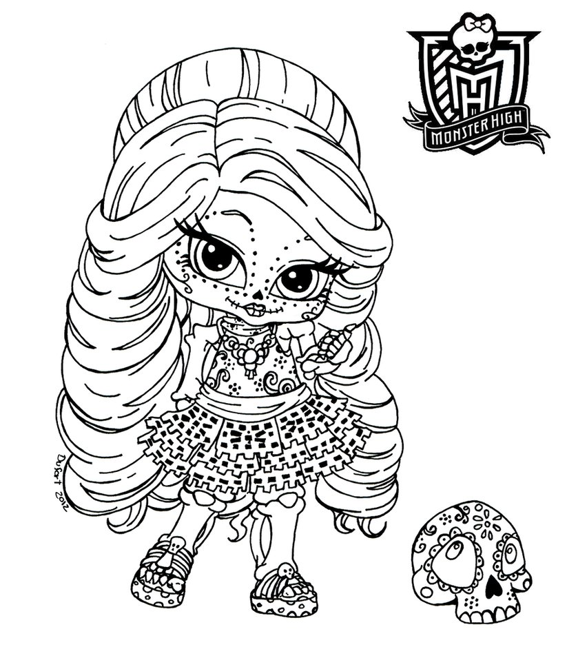 Monster High Coloring Pages Games