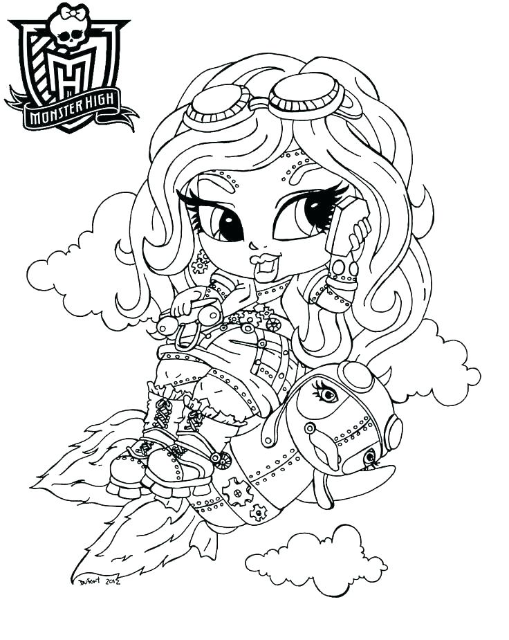 736x925 Monster High Coloring Pages Games Monster High To Color Monster