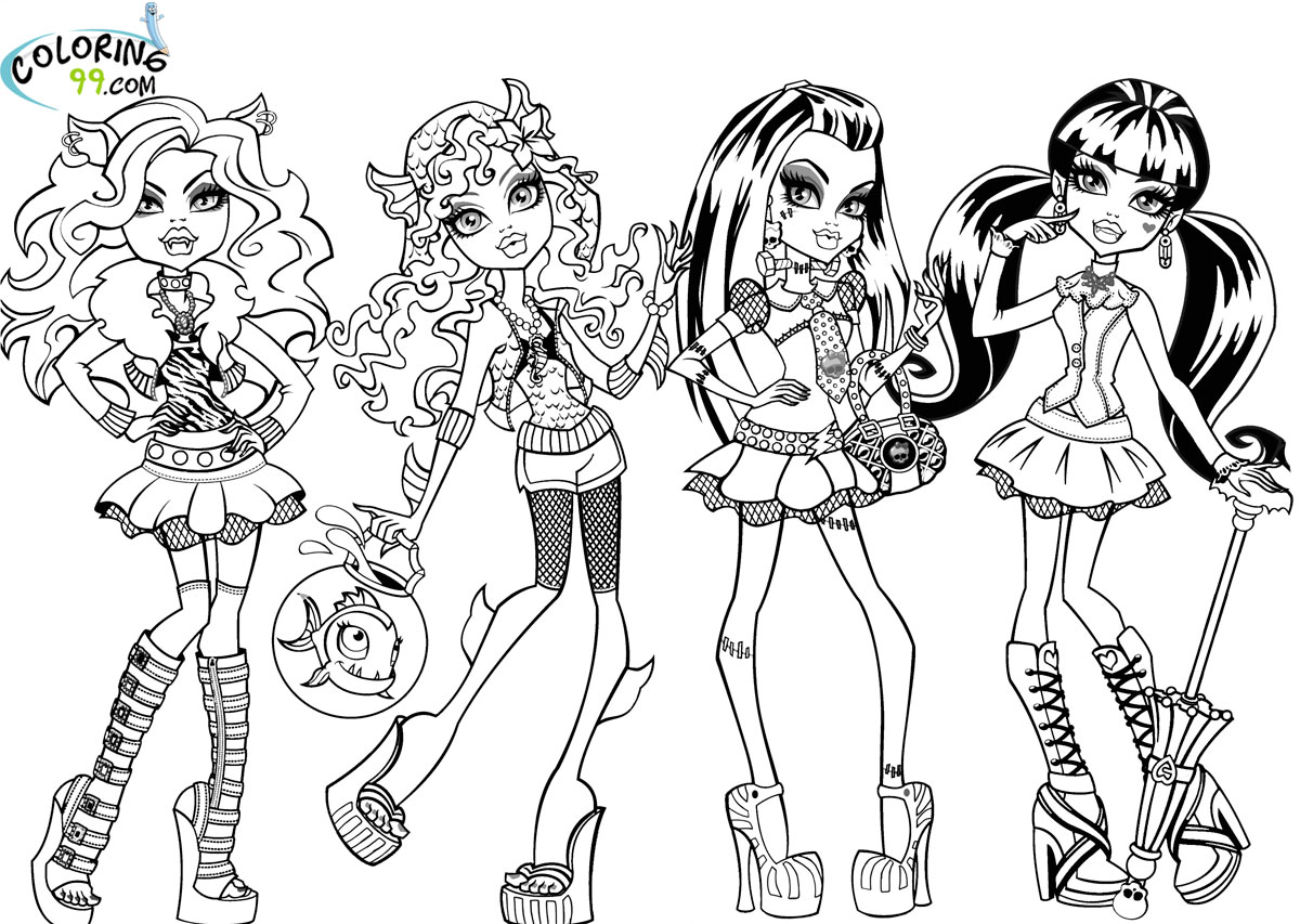 Monster High Coloring Pages Games at GetDrawings.com | Free ...