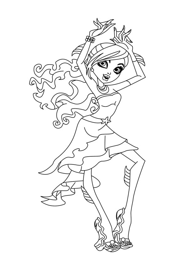 Monster High Coloring Pages Lagoona Blue At Getdrawings Free