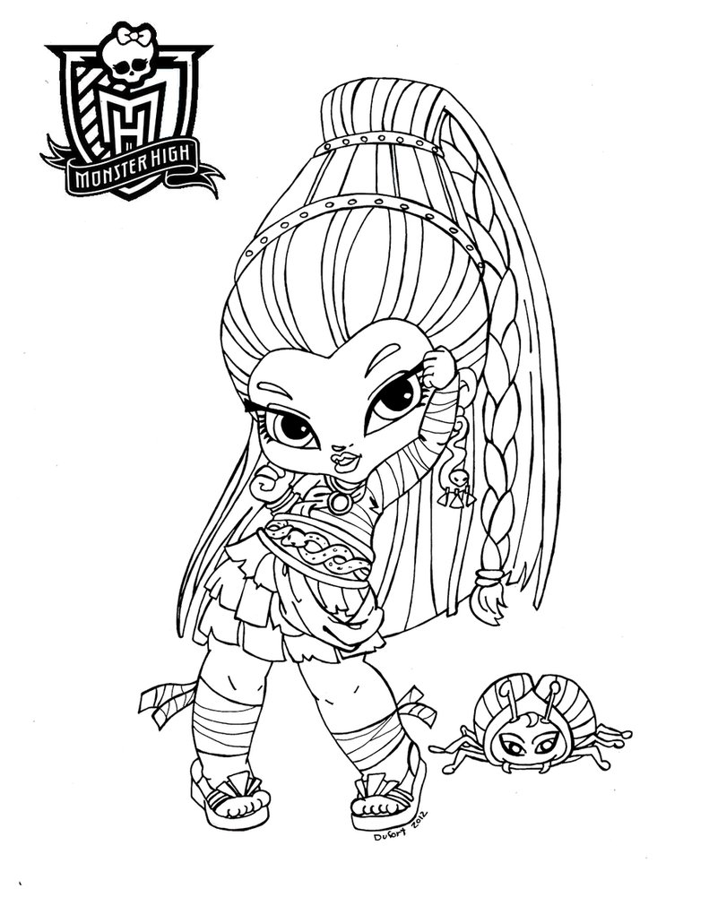 791x1011 Free Printable Monster High Coloring Pages For Kids In Pdf