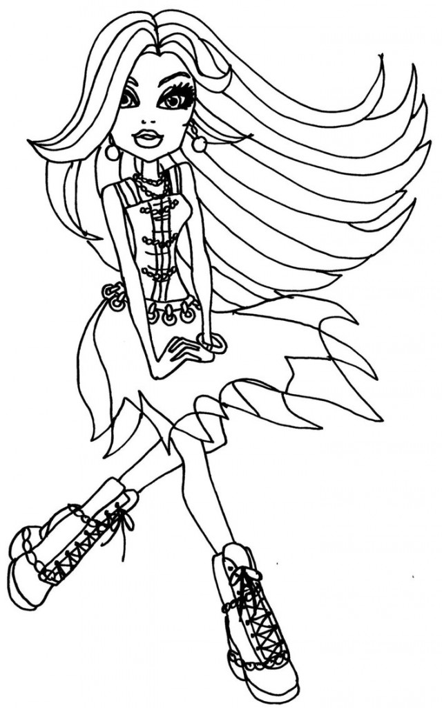 640x1024 Free Printable Monster High Coloring Pages For Kids
