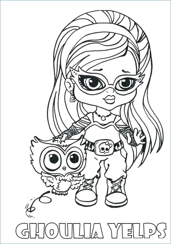 562x800 Ghoulia Yelps Little Girl Monster High Coloring Page