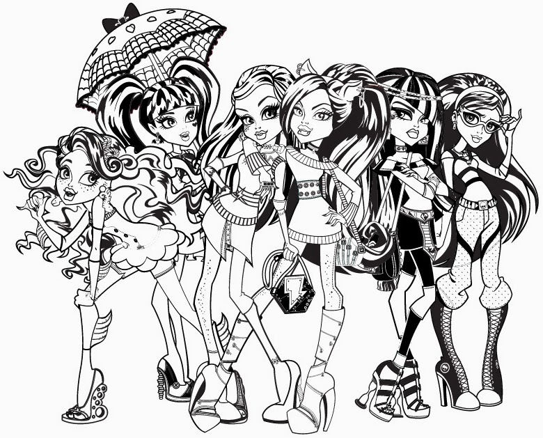 780x629 Monster Fabulous Monster High Coloring Pages Pdf