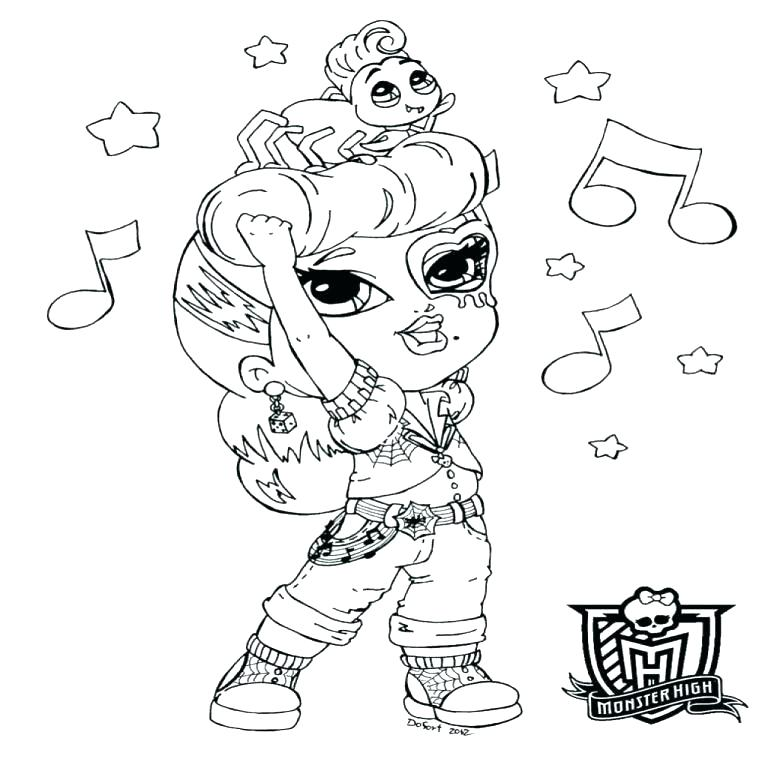 768x768 Monster High Color Pages Fresh Monster High Coloring Pages Blue