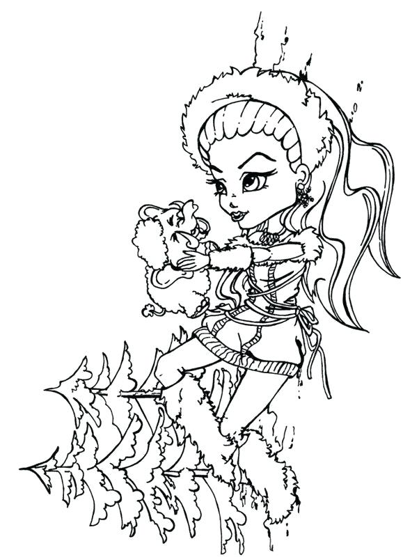 579x800 Monster High Coloring Pages As Well As Little Boy Monster High