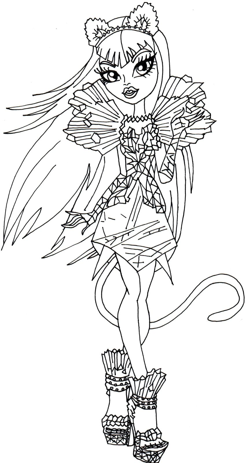 850x1600 Monster High Coloring Pages Pdf