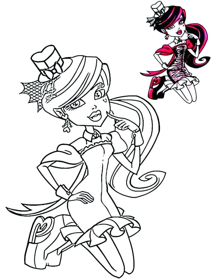 707x909 Coloring Page Monster High