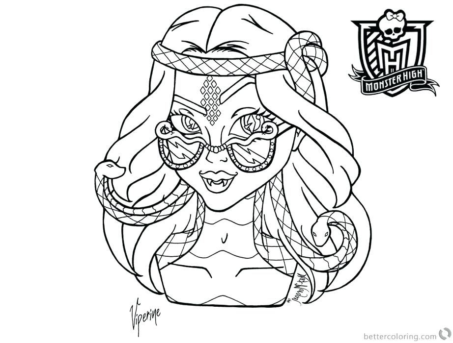 922x700 Monster High Coloring Page