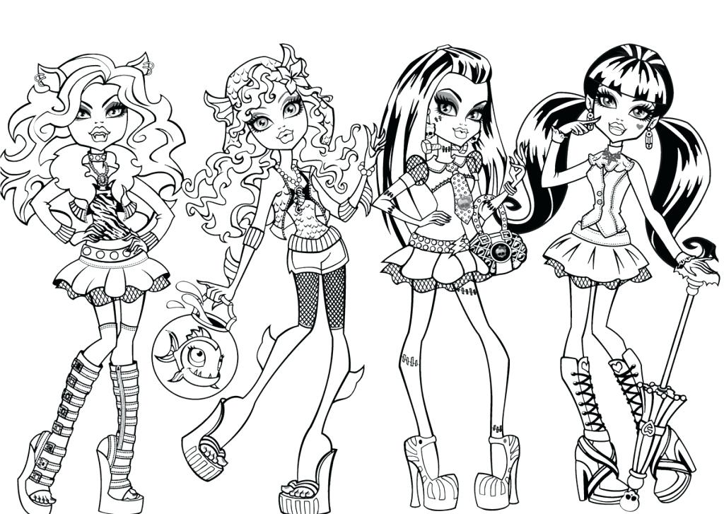 1024x727 Coloring Page Monster High Monster High Coloring Pages Monster
