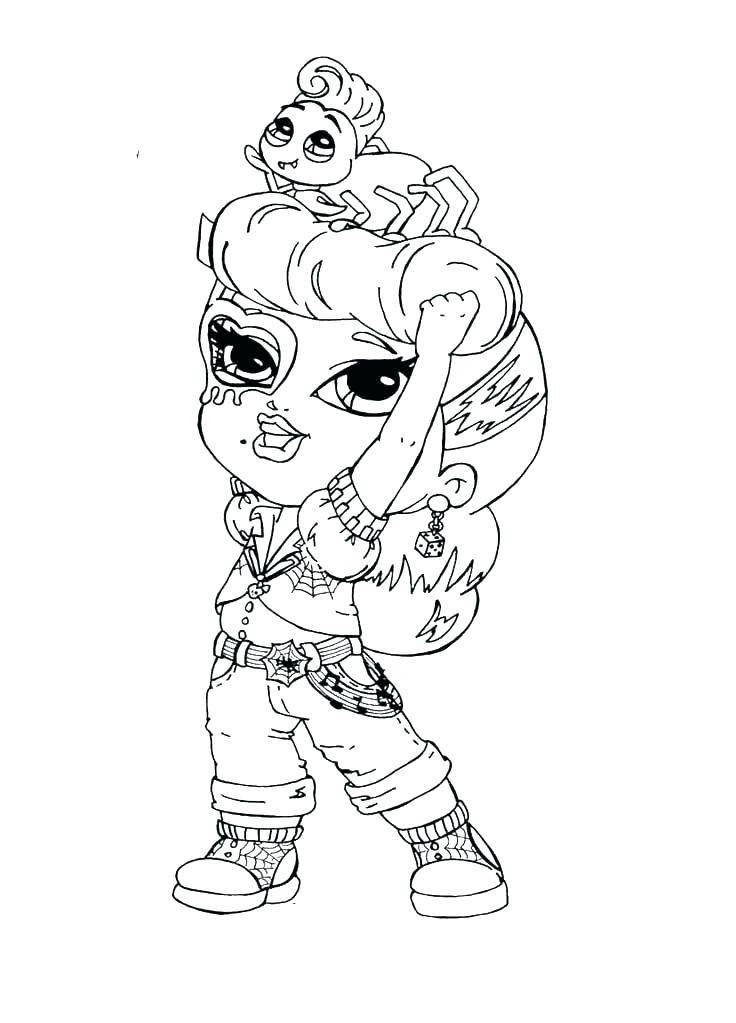 736x1023 Elegant Monster High Coloring Pages Baby New Free Printable Abbey