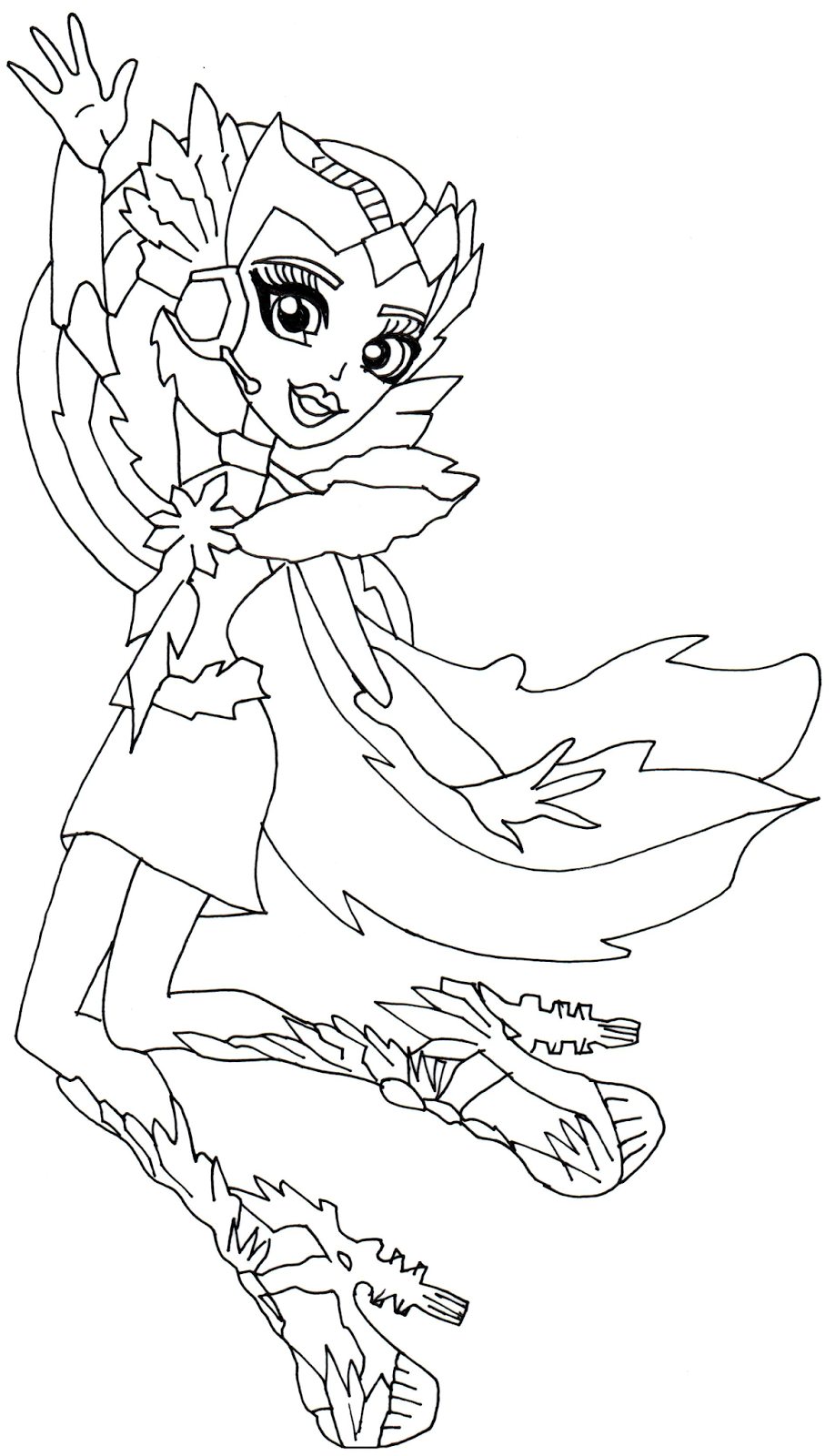 photograph about Free Printable Monster High Coloring Pages referred to as Monster Large Coloring Internet pages Printable No cost at GetDrawings