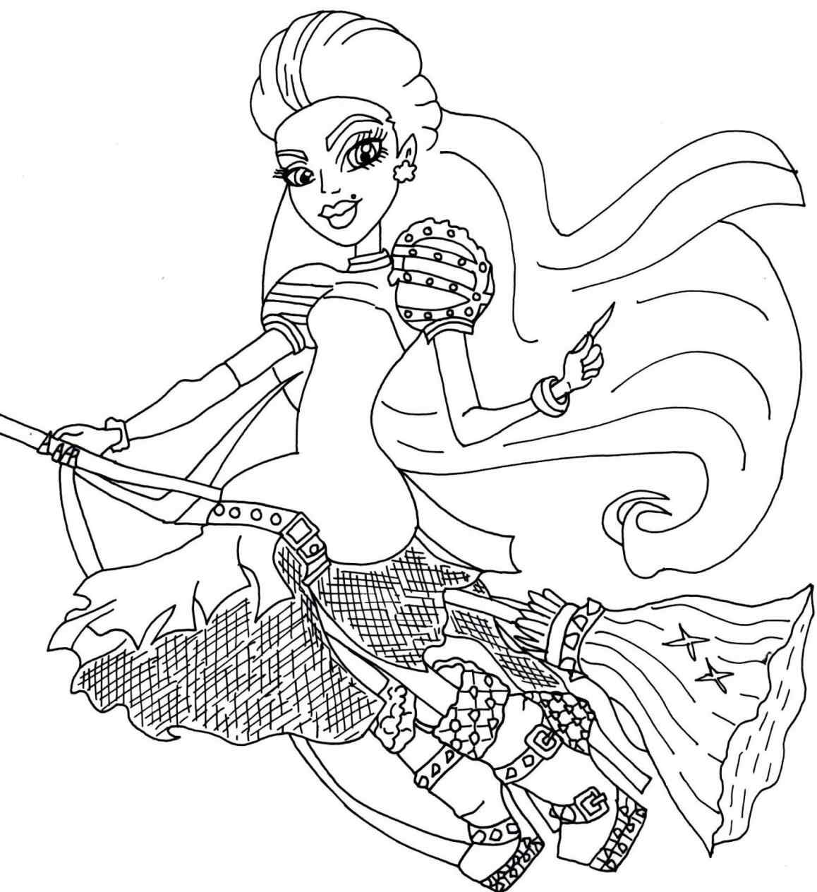 1158x1264 Monster High Coloring Pages Printable Scaris Online Coloring