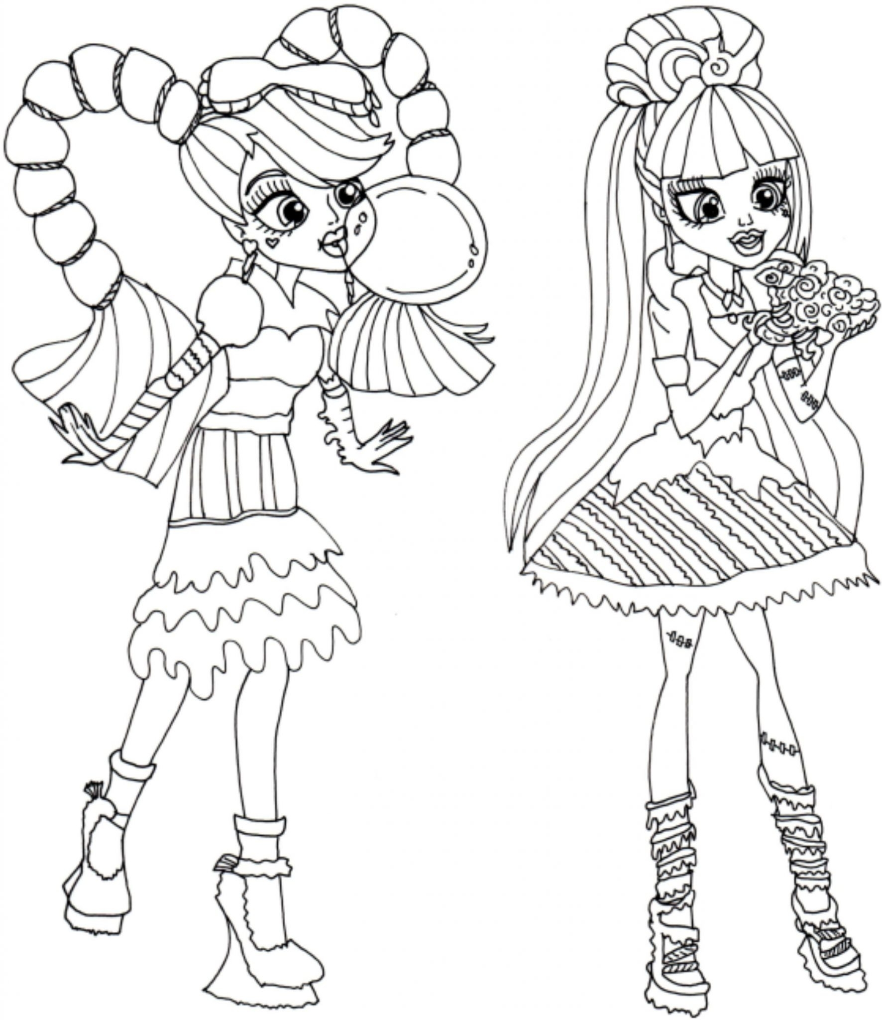 image relating to Monster High Coloring Pages Printable identified as Monster Substantial Coloring Internet pages In the direction of Print at