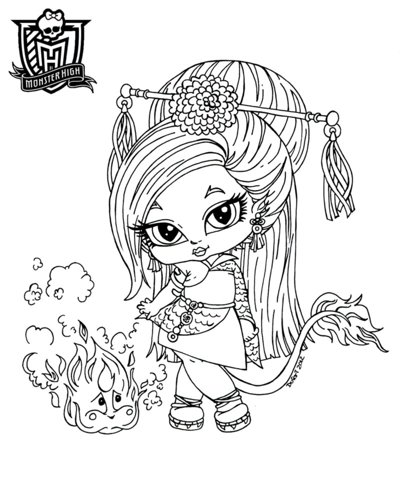 Monster High Dolls Coloring Pages At Getdrawings Com Free For