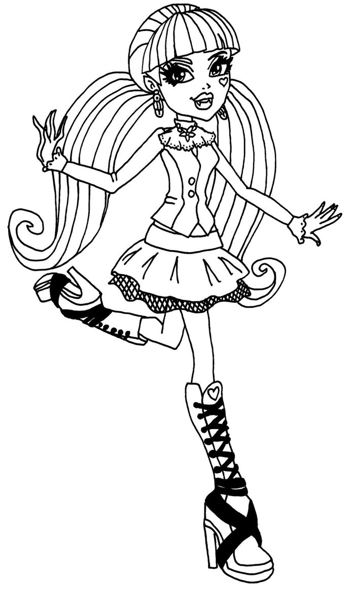 Monster High Elissabat Coloring Pages At Getdrawings Free Download