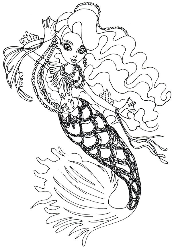 600x865 Best Coloring Pages Monster High Ever After Etc Images