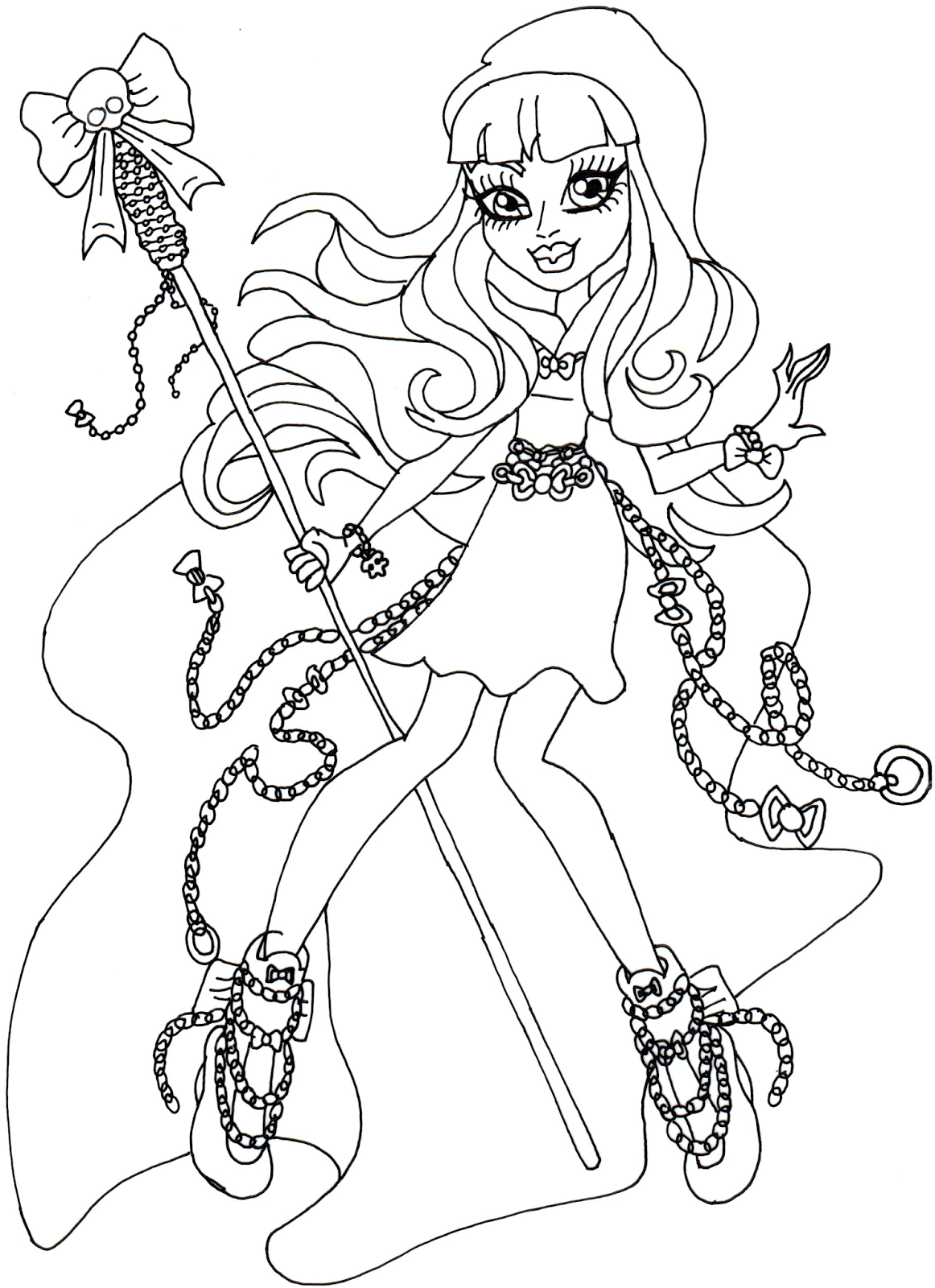 1162x1600 Free Printable Monster High Coloring Pages River Styxx Monster