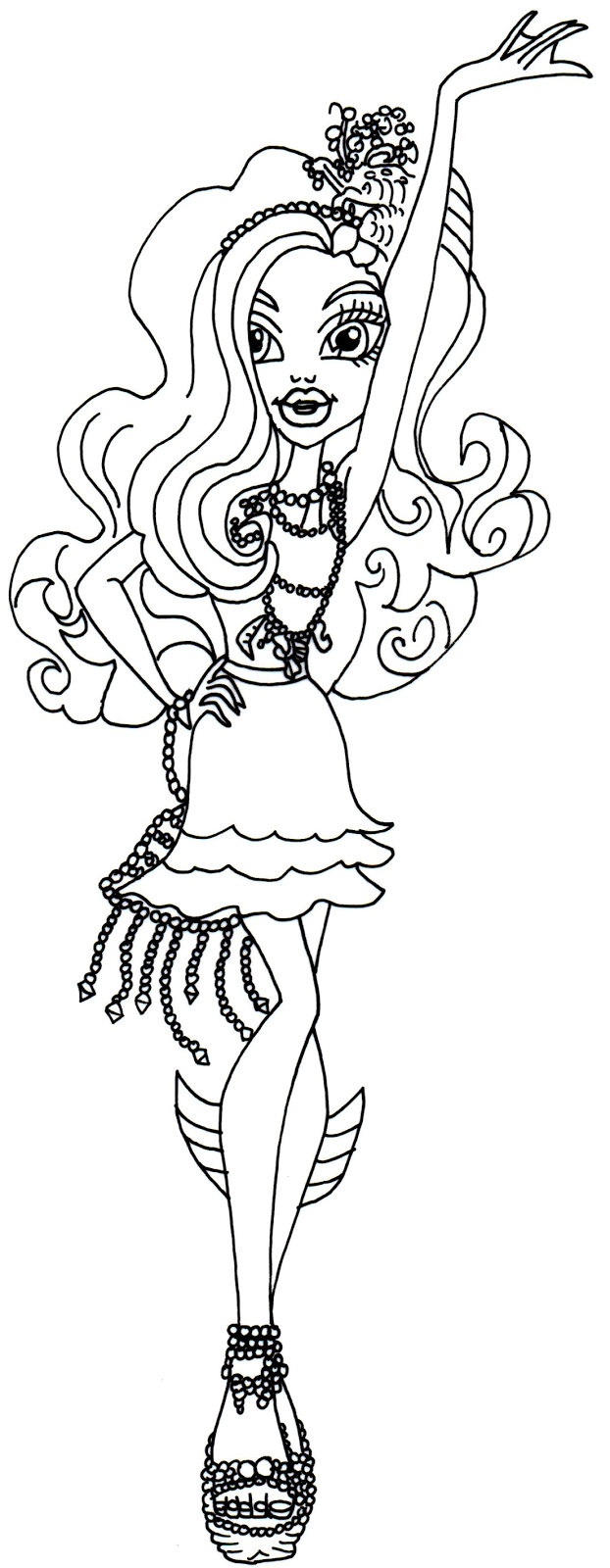 622x1600 Monster High Wishes Coloring Pages