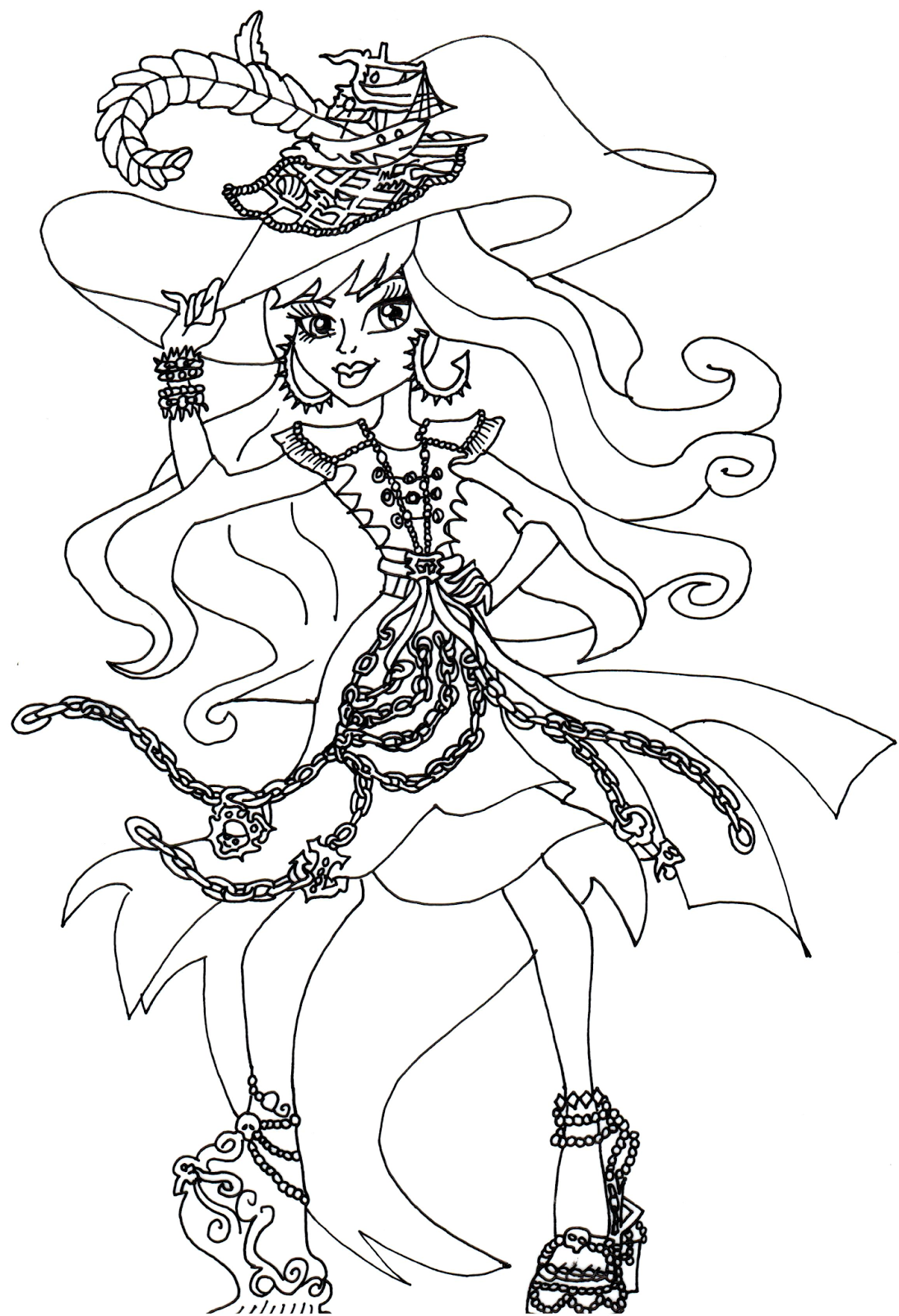 1093x1600 Monster High Coloring Pages