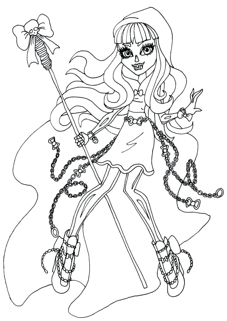 724x1024 Monster High Coloring Pictures Printable Kids Coloring Monster